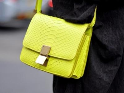 неоновая сумка, сумка 2012, маленькая сумка, желтая сумка