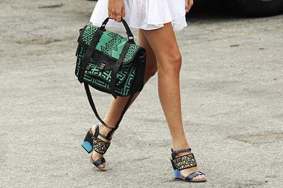 сумка с узором, сумка портфель, зеленая сумка, модная сумка 2012, сумка с принтом