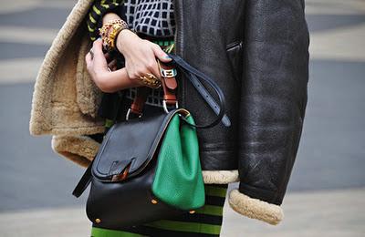 сумка с блокирующими цветами, зеленая сумка, модная сумка, блокирующие цвета