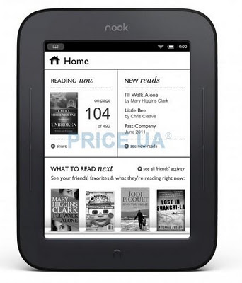 электронная читалка Barnes Noble Nook