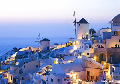 Санторини, остров Санторини, Греция, белые дома
