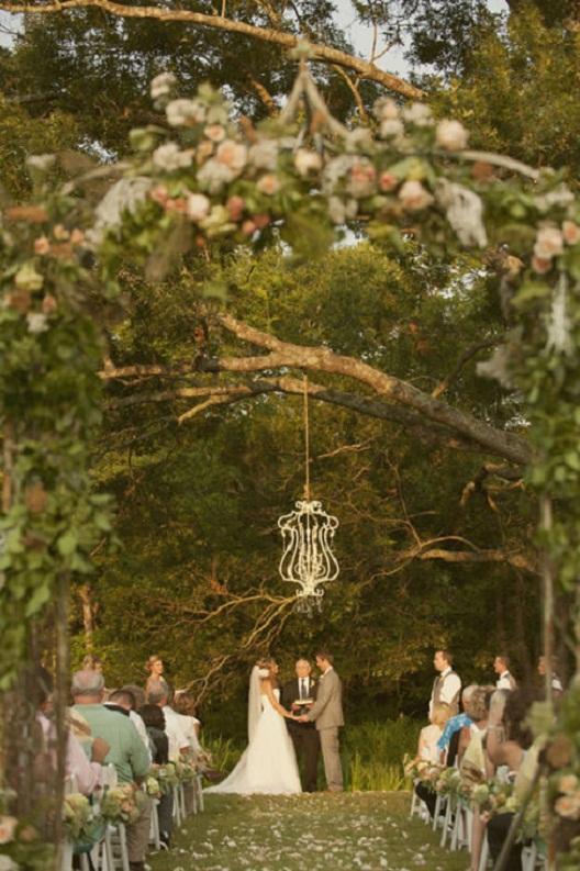 Свадебная церемония в деревенском кантри стиле