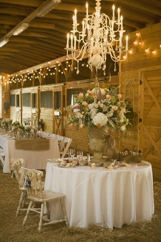 Свадебный Банкет в деревенском кантри стиле