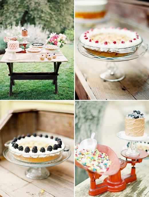 Свадебный десерт в деревенском кантри стиле