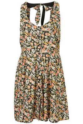Платье с цветочным принтом TOPSHOP