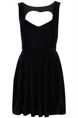 Платье с вырезом в виде сердца TOPSHOP