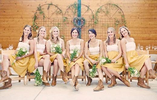 Обувь в деревенском кантри стиле для свадьбы