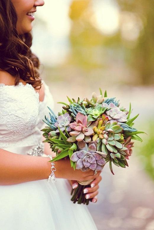 Свадебный букет в деревенском кантри стиле