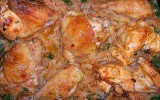 Курица с тмином и капустой в горчичном соусе.