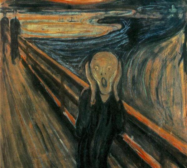 """""""Крик"""" паника страх фото картинка фотография"""