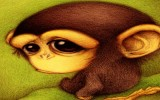 Грустная обезьяна фото картинка фотография