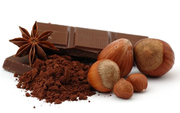 Шоколад, какао, орехи, анис фото картинка фотография