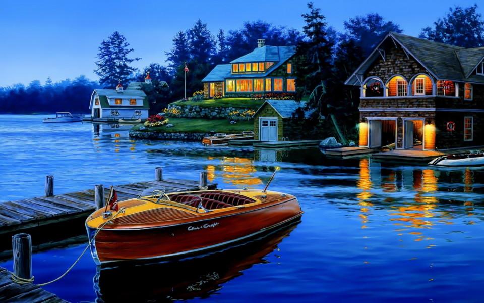 красивые лодки картинки