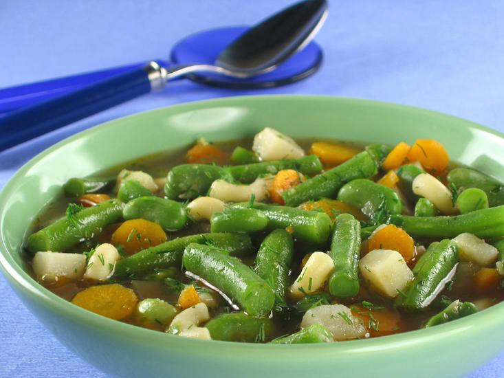 Суп из зеленой фасоли фото картинка фотография