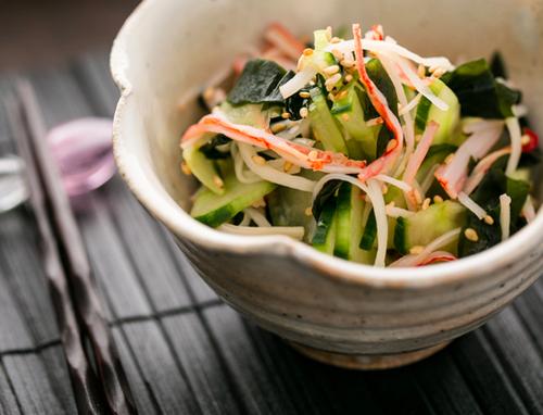 Китайский салат с огурцами фото картинка фотография