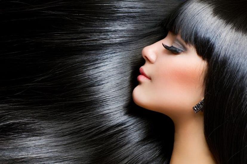 Черные красивые волосы фото
