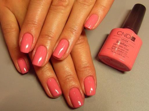 Покрытие шеллак ногти
