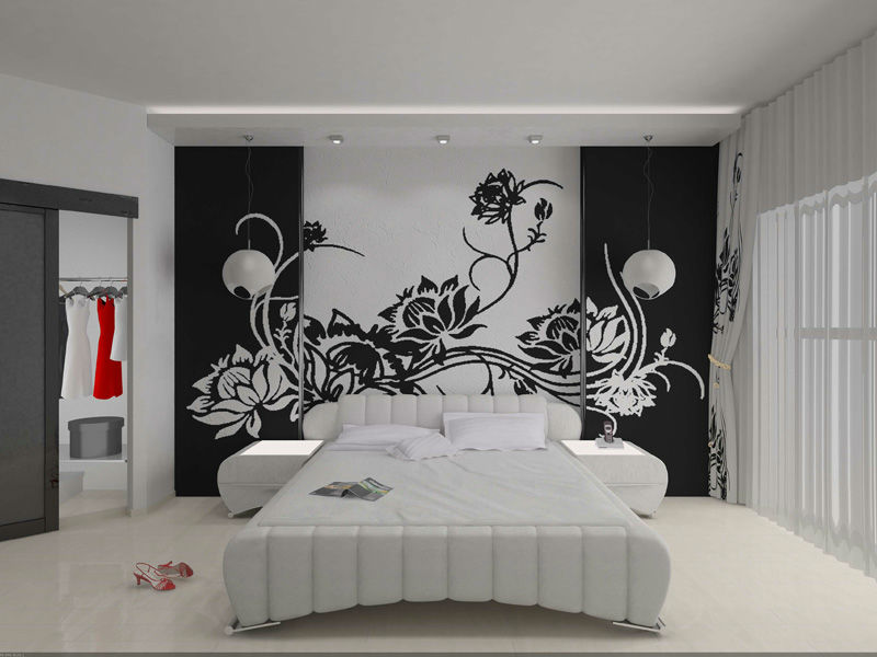 Рисунки на стене спальни своими руками