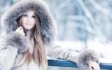 Девушка в зимней шубе фото