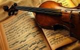 Скрипка и ноты фото