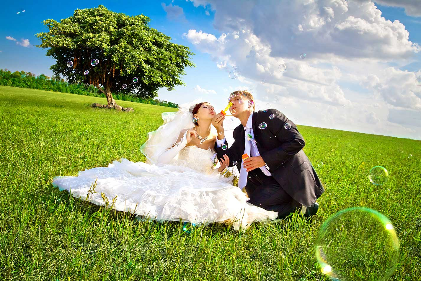 Идеи для свадебного фото на природе