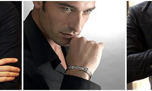 мужчина с браслетом на руке
