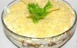 Рецепт салата с рыбными консервами