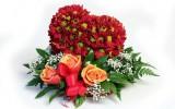 Корзина цветов на День святого Валентина
