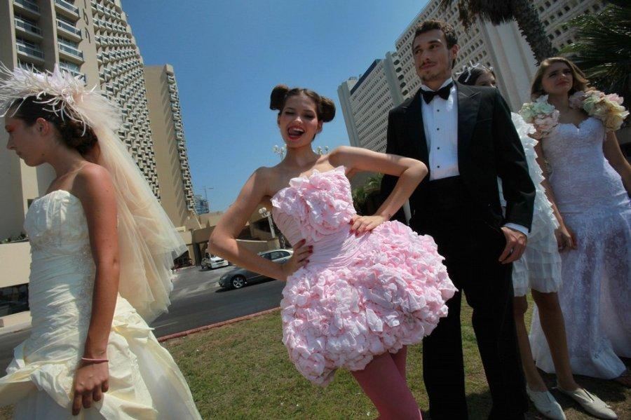 Платье на конкурс из бумаги своими руками