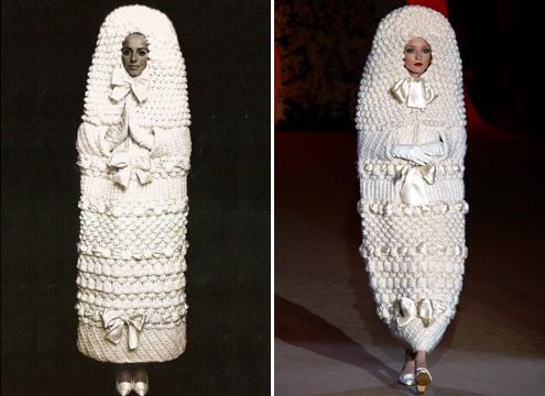 Красивое, необычное и удивительное платье-кокон было впервые выставлено на ретроспективной выставке, в Сан-Франциско, в одном из музеев города