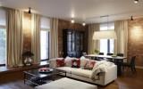 Американский-дизайн-гостиной