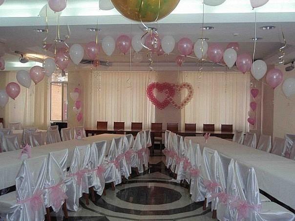 Оформление своими руками зал для свадьбы