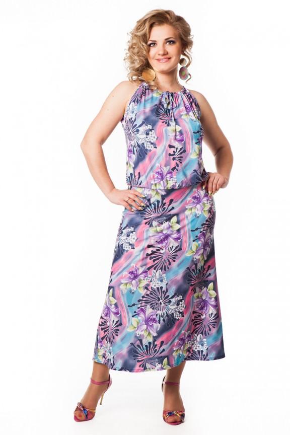 Платья из ситца для полных женщин
